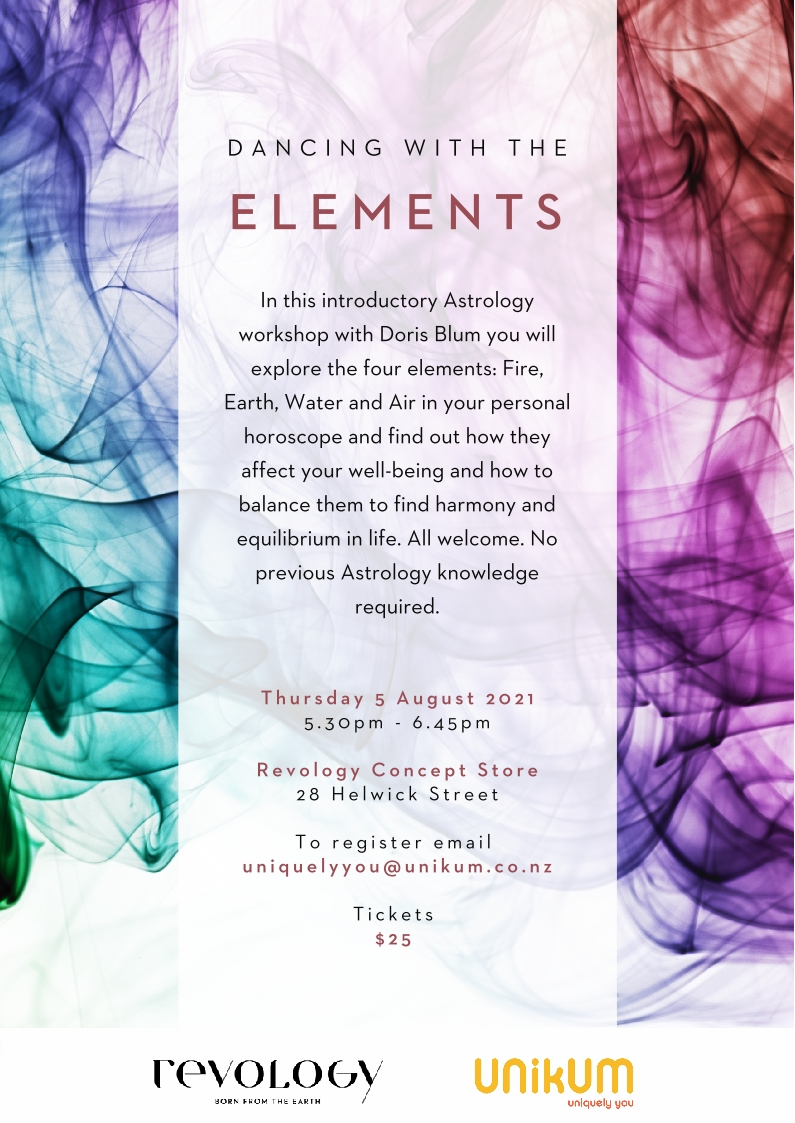 Dancing with the elements Astrology workshop